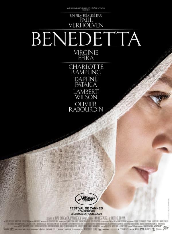 "Affiche de ""Benedetta"" de Paul Verhoeven avec Virginie Efira"