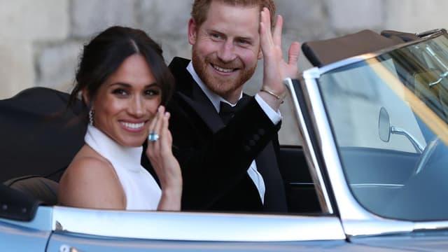 Meghan et Harry, le jour de leur mariage.