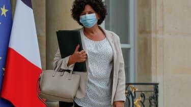 La ministre de la Recherche Frédérique Vidal quitte le palais de l'Elysee après le conseil des Ministres, le 23 septembre 2020 à Paris