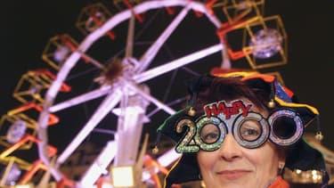 Le nouvel an sur les Champs-Elysées à Paris le 31 décembre 1999