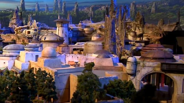 """Une maquette des futurs parcs centrés sur l'univers """"Star Wars"""""""