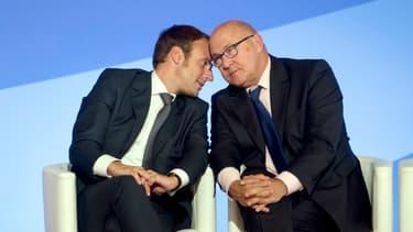 Emmanuel Macron et Michel Sapin ont rencontré leurs homologues allemands à Berlin.