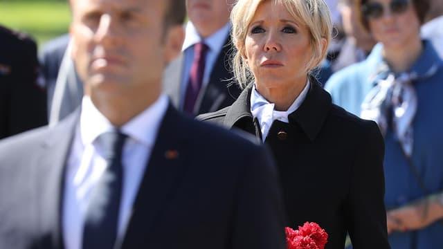 Emmanuel et Brigitte Macron en Russie, le 25 mai 2018.