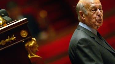Valéry Giscard d'Estaing le 3 décembre 2002 à l'Assemblée nationale
