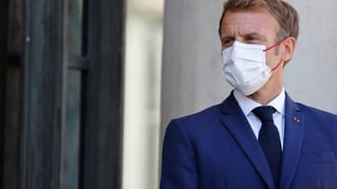 Emmanuel Macron à l'Elysée le le 7 septembre 2021 à Paris