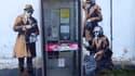 Ce graffiti de Banksy a été vandalisé, dans la nuit de jeudi à vendredi.