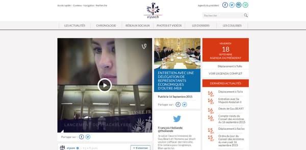 Le nouveau site Internet de l'Elysée