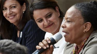 Christiane Taubira était venue soutenir Najat Vallaud-Belkacem à Villeurbanne.