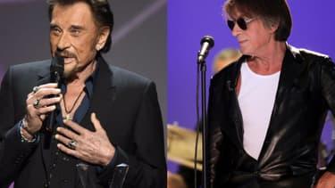 Johnny Hallyday et Jacques Dutronc sont montés sur scène ensemble à l'été  pour la tournée des Vieilles Canailles -