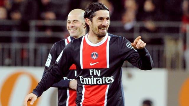 Milan Bisevac, buteur pour la première fois de la saison avec le PSG