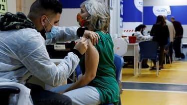 Un centre de vaccination contre le Covid-19, le 26 janvier 2021 à Tel-Aviv, en Israël. (Photo d'illustration)