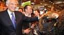 Dominique de Villepin au salon de l'agriculture. L'ancien Premier ministre créera en juin un nouveau parti politique en vue de l'élection présidentielle de 2012, a annoncé le député UMP villepiniste François Goulard. /Photo prise le 3 mars 2010/REUTERS/Ph