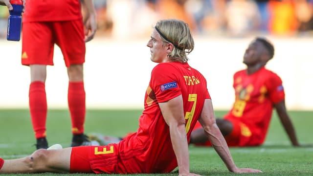 La déception des Belges, éliminés de l'Euro Espoirs.