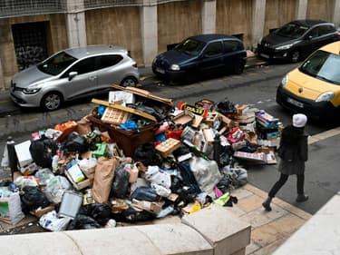 Poubelles à Marseille le 28 décembre 2020