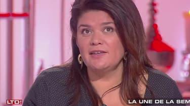 Raquel Garrido, porte-parole de la France insoumise et chroniqueuse pour C8.