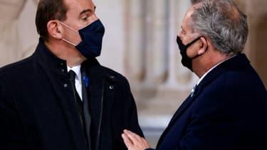 Jean Castex et Richard Ferrand le 11 novembre 2020 au Panthéon (Photo d'illustration)