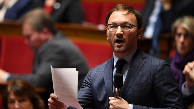 Patrick Mignola lors des questions au gouvernement, le 20 février 2018.
