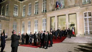 Les maires de France reçus à l'Elysée.