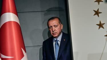 Recep Tayyip Erdogan à Istanbul (Turquie) le 24 juin 2018