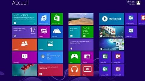 Capture d'écran de Windows 8