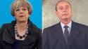 Theresa May et Jacques Chirac.
