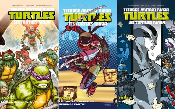 "Couvertures des comics des ""Tortues Ninja"""