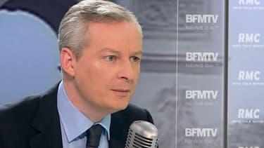 Bruno Le Maire sur le plateau de BFMTV, le 19 janvier 2015.