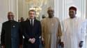 Ibrahim Boubacar Keita, Chad's President Idriss Deby and Niger's President Mahamadou Issoufou