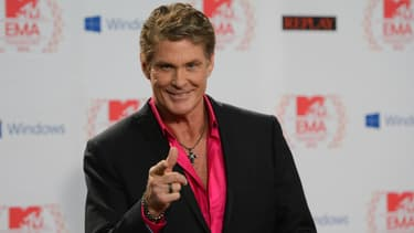 David Hasselhoff au MTV European Music Awards à Francfort en 2013