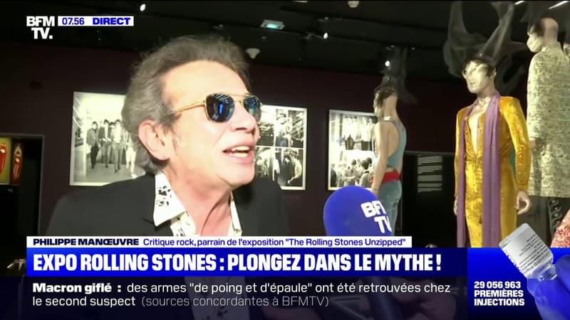 """""""C'est très émouvant"""": Philippe Manœuvre, parrain de l'exposition des Rolling Stones à Marseille, témoigne sur BFMTV"""