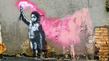 Oeuvre attribuée à Banksy à Venise