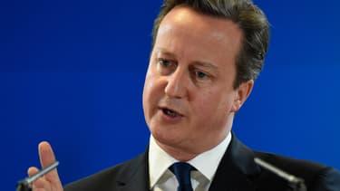 David Cameron au Conseil européen, à Bruxelles, le 27 juin 2014.