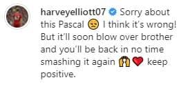 Le commentaire d'Harvey Elliott