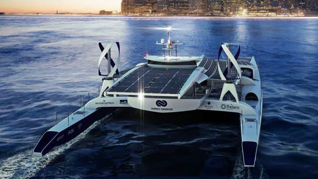Le bateau écologique Energy Observer prendra le large mi-avril pour une mission de six ans