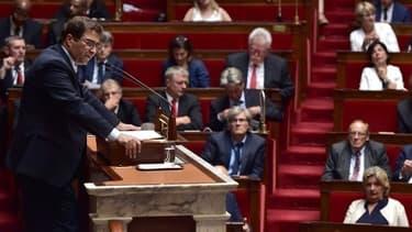 Le groupe Les Républicains à l'Assemblée nationale le 4 juillet 2017 après un discours du Premier ministre.