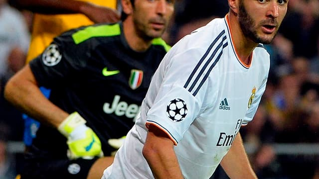 Karim Benzema, malheureux face à la Juve en C1