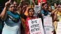 Des femmes indiennes manifestent contre les violences sexuelles, à New Delhi, le 13 octobre 2015.