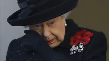 La reine Elizabeth II le 10 novembre 2019, lors de la jounée du souvenir, en hommage aux morts de la Première Guerre Mondiale.