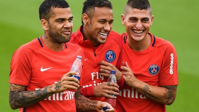 Dani Alves, Neymar et Verratti