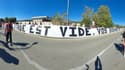 La banderole des supporters niçois avant le derby contre Monaco.