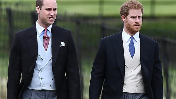 Les prince William et Harry, au mariage de Pippa Middleton, le 20 2017