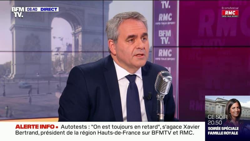 """Xavier Bertrand: """"Si tout rouvre, on peut tenir"""" les élections régionales"""