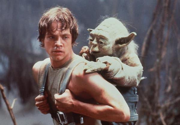 Yoda sur le dos de Luke