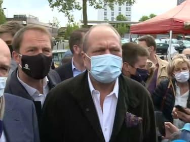 Eric Dupond-Moretti était en visite ce samedi à Loos-en-Gohelle, dans le Pas-de-Calais