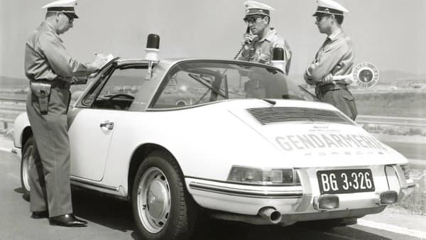 Une Targa utilisée dans les années 60 par la gendarmerie autrichienne, qui fait désormais partie des forces de police.