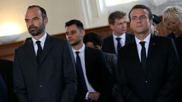 Edouard Philippe et Emmanuel Macron  le 26 juillet 2017.