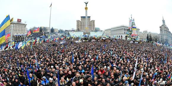 Une manifestation monstre le 15 décembre à Kiev.
