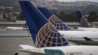Avions United Airlines à San Francisco, le 8 juillet 2015.