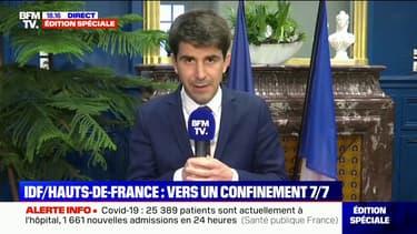 """Covid-19: le maire de Saint-Denis appelle à """"mettre un vrai coup de frein sur le travail présentiel"""""""