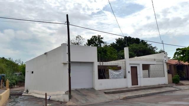 """Une des maisons ayant appartenu au baron de la drogue Joaquin Guzman, dit """"El Chapo"""", le 18 juillet 2015 à Culiacan, au Mexique"""